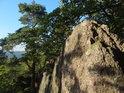 Skalní vrcholek v severní části chráněného území.