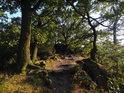 Hřebenová pěšina v jižní části chráněného území Babí lom.
