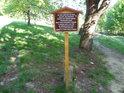 Pamětní cedule pod Barborkou je věnována upomínce na tragické úmrtí někdejší majitelky Buchlovického panství Marie Terezie Petřvaldské.