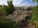 Malý skalní hřbet na Bílé hoře.
