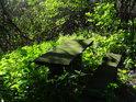 Romantická lavička se stolkem v kopřivách, tedy jak pro koho.