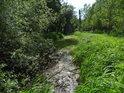 Pás vodního toku, jen velice líně se valícího.