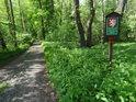 Zdvojená úřední cedule při lesní cestě Týniště nad Orlicí – Petrovice nad Orlicí, jednou jako přírodní památka, podruhé jako evropsky významná lokalita. Trocha té přírodní byrokracie...