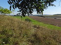 Výhled na jih přes jihozápadní cíp chráněného území.