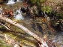 Voda Zaječího potoka omílá křemen.