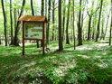 Informační cedule pro chráněné území Dařenec.