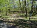 Úřední cedule v severovýchodní části chráněného území Dařenec.