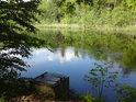 Výpusť rybníka Prostřední Houkvice.