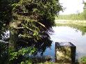 Výpusť rybníka Velká Houkvice.