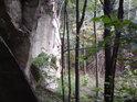 Kolmá východní skalní stěna.