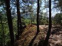 Pěšina ke skalní špici nad Klokočovem.