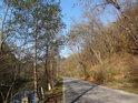 Silnice u Bílovic nad Svitavou je hranicí chráněného území Kněžnice.
