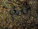 Folklorem se v chráněných území se již dávno stal odpad v jakékoliv podobě, pneumatiky sem jistě vítr nezavál.