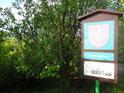 Úřední a informační cedule k chráněnému území Koukolky.