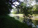 Řeka Cidlina je už za severní hranicí chráněného území.
