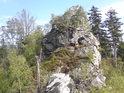 Malinská skála ze strany východní.