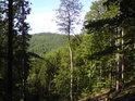 Z chráněného území Na hadci můžeme spatřit zalesněný kopec se zajímavým jménem Rovinka.