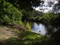 Čistá voda řeky Svratky pod chráněným územím Nad Horou.