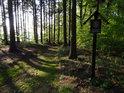 Příchod k chráněnému území Oheb od obce Ústupky.