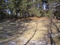 Na to že je to tu písečný přesyp, tu je písek vidět jen málo, ale myšleno odkrytý.