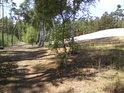 Cesta při jižní straně chráněného území.