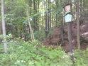 Do chráněného území se dá dostat třeba ze silnice, vedoucí z obce Františkov do hor.