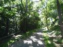Asfaltová stezka přes chráněné území.