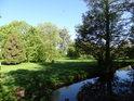 Dolní část parku Střelnice.