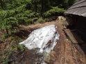 Sníh na počátku května není na Rejvíze žádnou vzácností.