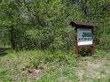 Jedna z informačních cedulí k přírodní rezervaci Rezavka.