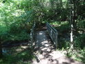 Mostek přes Borecký potok.