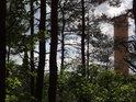 Ze Strádovského pekla je dobře vidět vodárenská věž v Práčově.