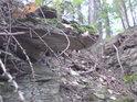 Malinký skalní převis.