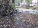 Soutok řeky Zdobnice s levostranným přítokem, co sbírá vodu ze slatinské stráně.