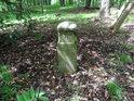 Hraniční kámen na vrcholu Třebovského hradiska.