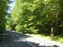 Silnice mezi obcemi Červenka a Králová tvoří jihozápadní hranici chráněného území.