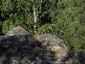 Malé skalní odpočívadlo na Kozích hřbetech.