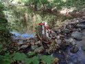 Nápadité vodní kolo na potoce Besének.